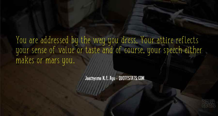 No Dress Sense Quotes #483354