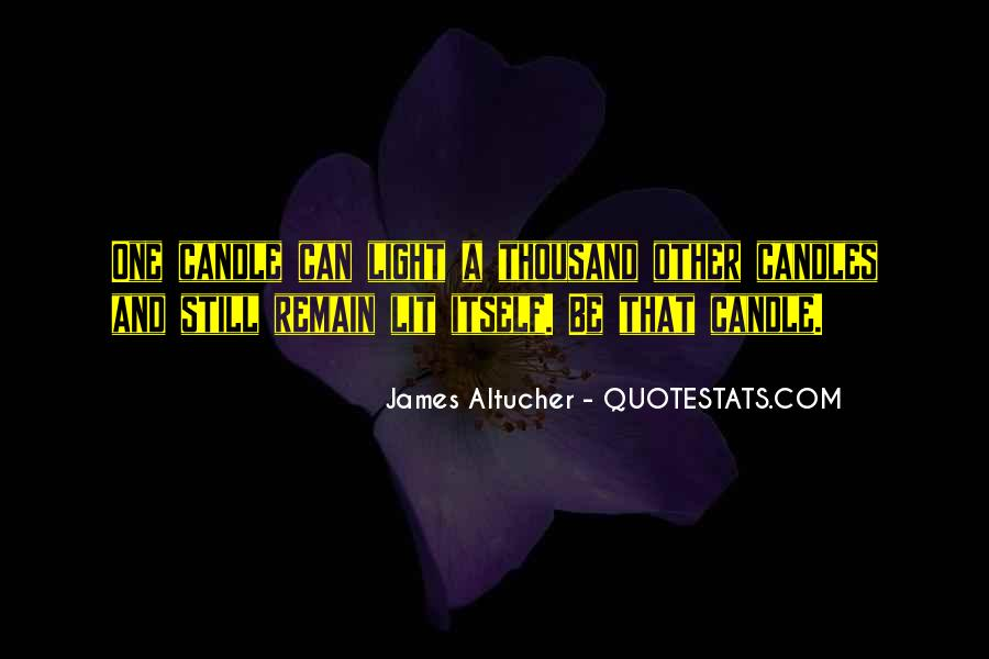 Quotes About Candles Light #1170401