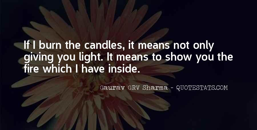 Quotes About Candles Light #1831062