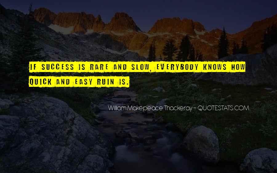 No Easy Way To Success Quotes #316186