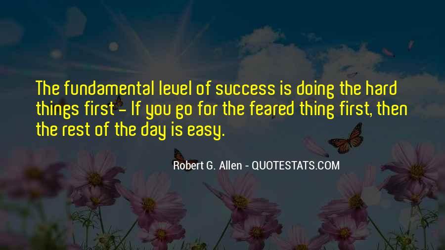 No Easy Way To Success Quotes #73722