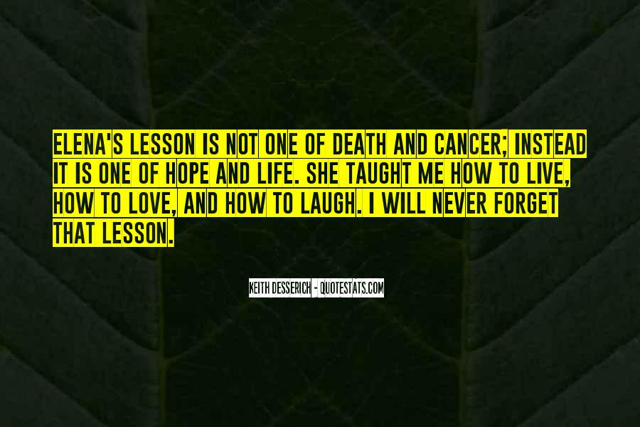 Quotes About Cancer Death #1179131