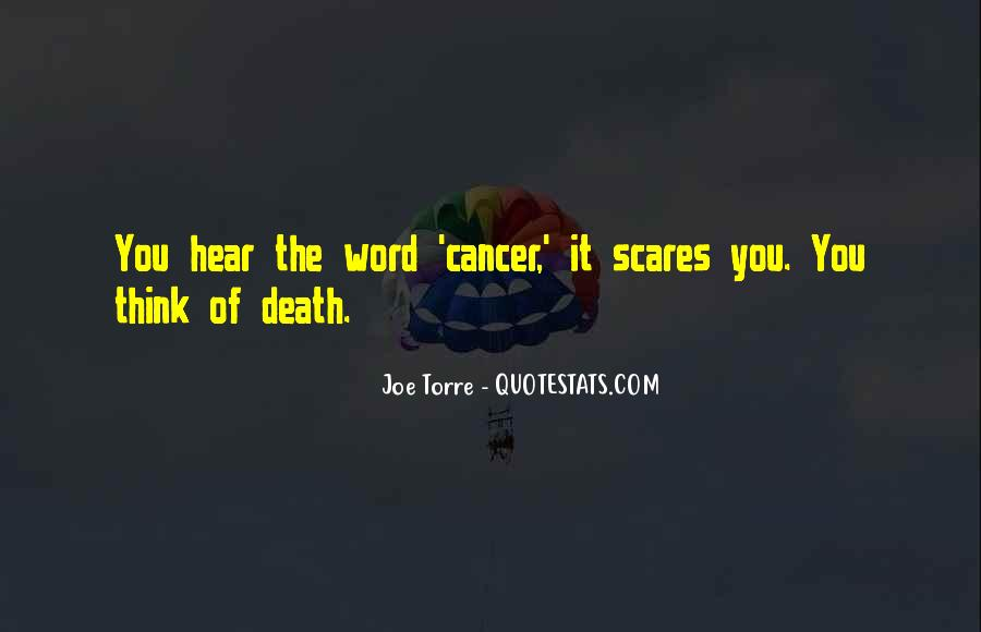 Quotes About Cancer Death #1341319