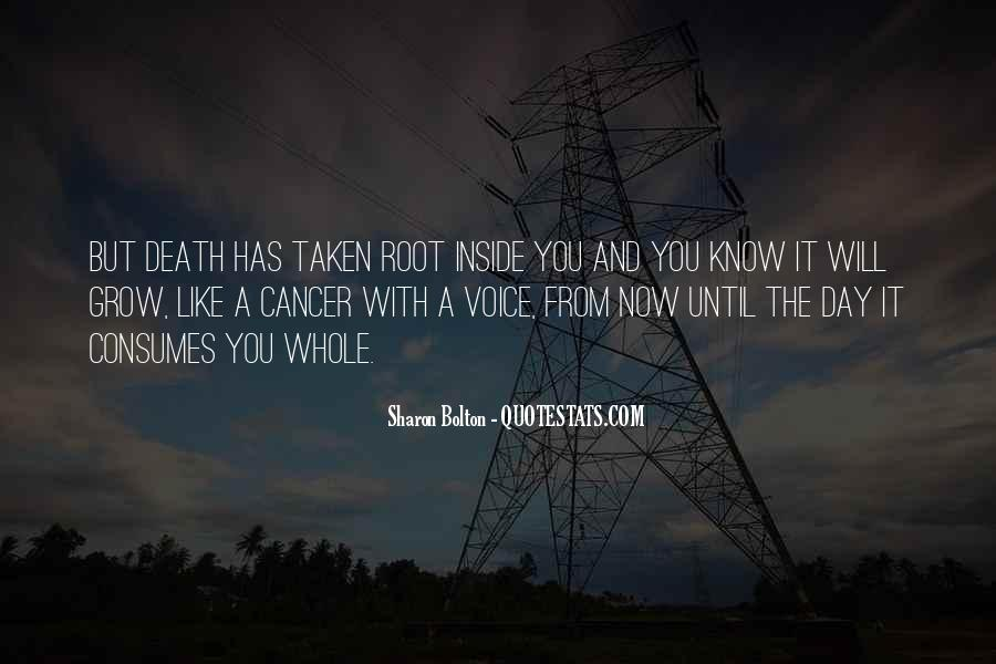 Quotes About Cancer Death #1492512