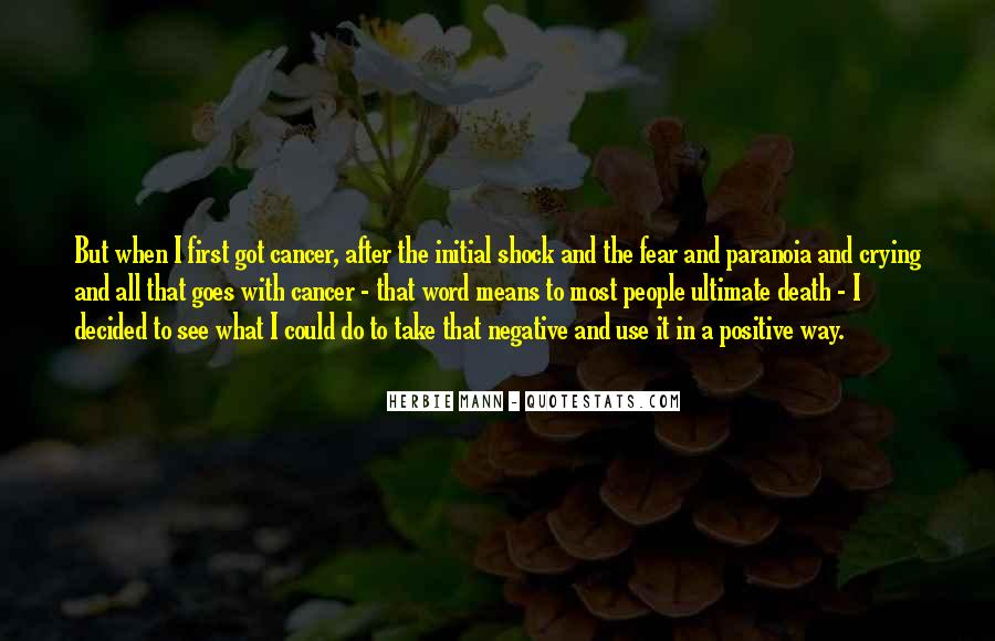 Quotes About Cancer Death #1502069