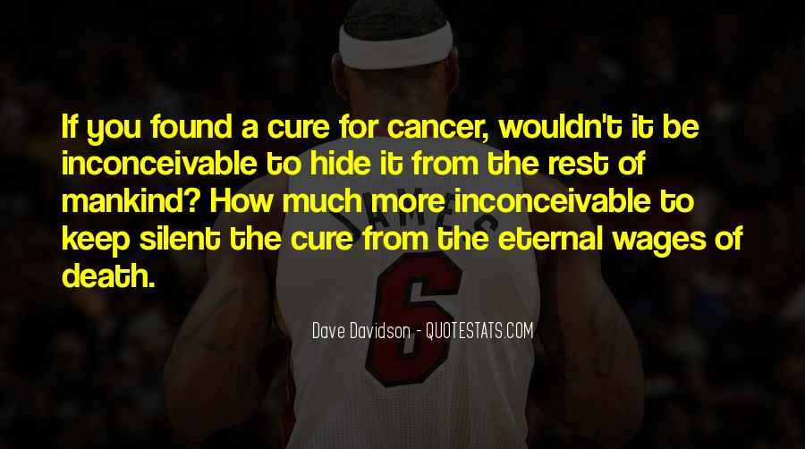 Quotes About Cancer Death #1581121