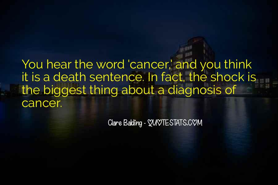 Quotes About Cancer Death #1719433