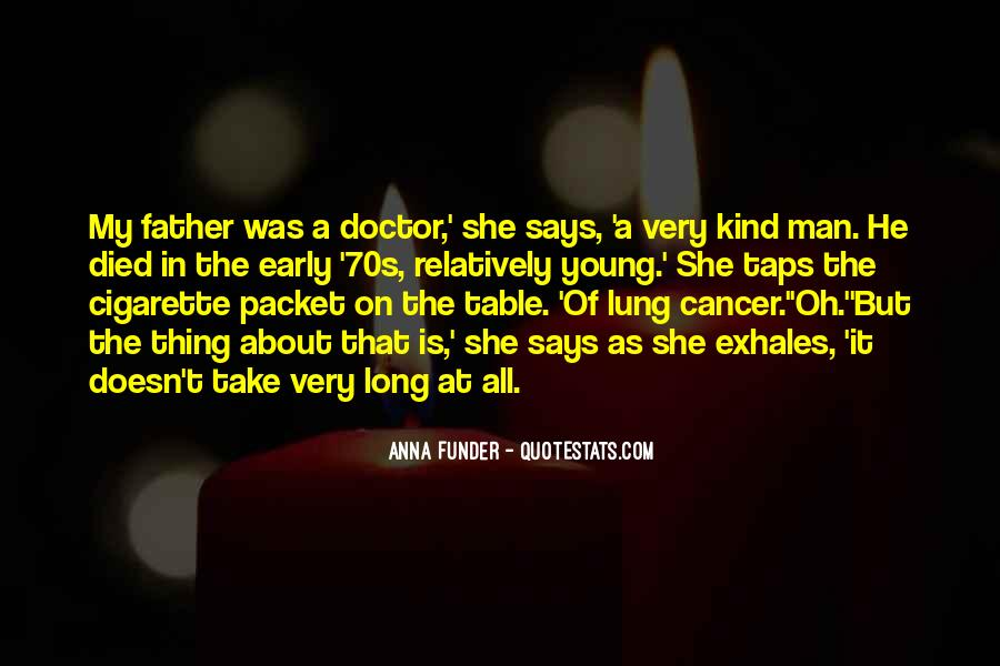 Quotes About Cancer Death #530417