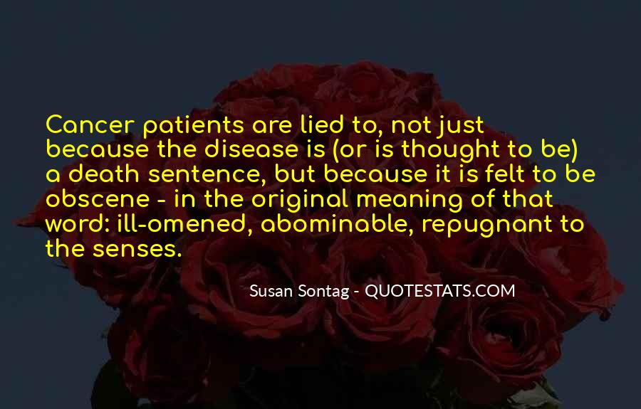 Quotes About Cancer Death #712243