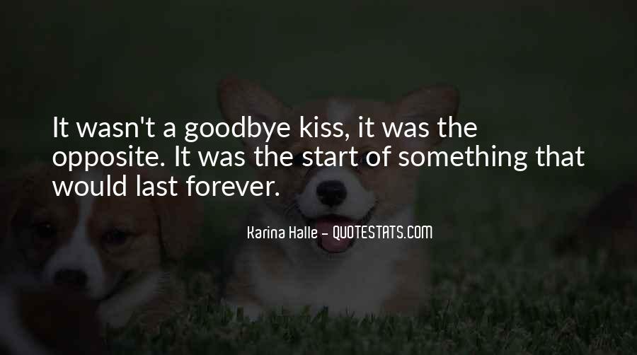 No Kiss Goodbye Quotes #32556