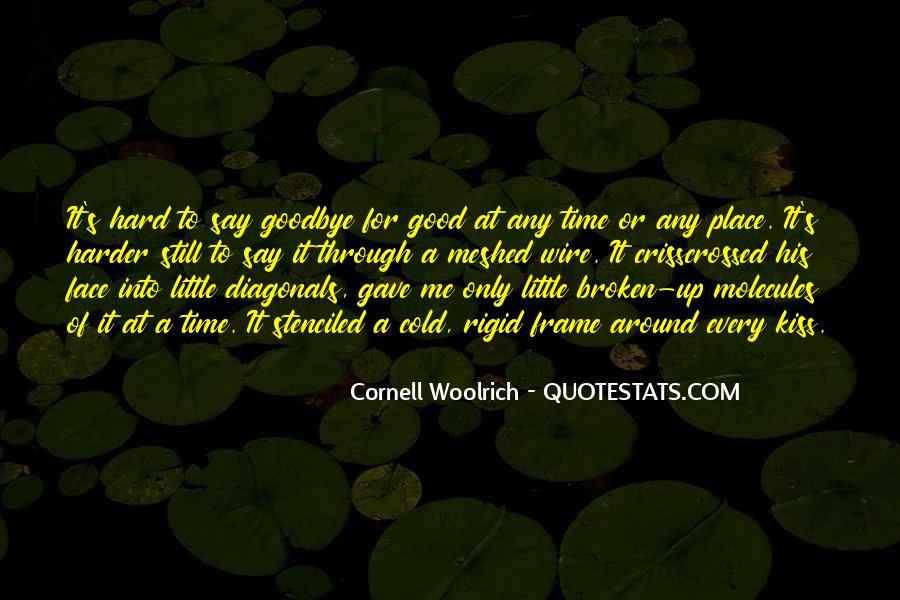 No Kiss Goodbye Quotes #71529