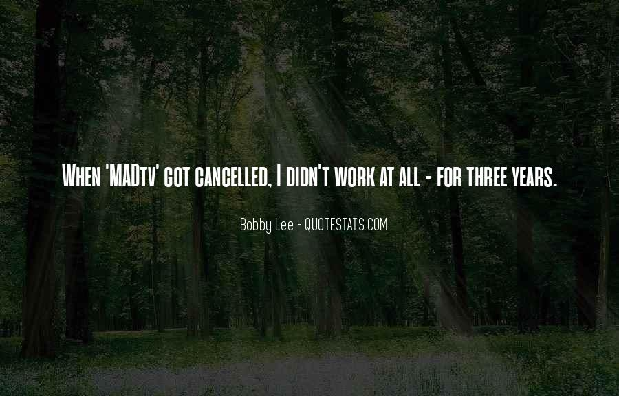 Quotes About Cancelled #136059