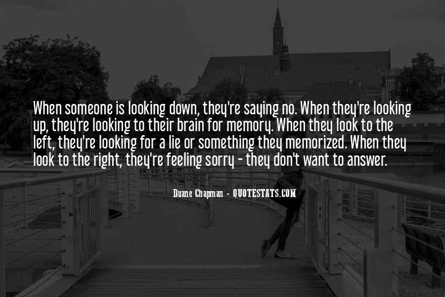 No Looking Down Quotes #969760