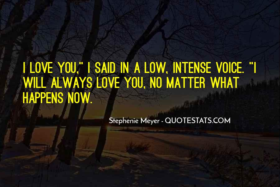 No Matter What Happens I Love You Quotes #342719