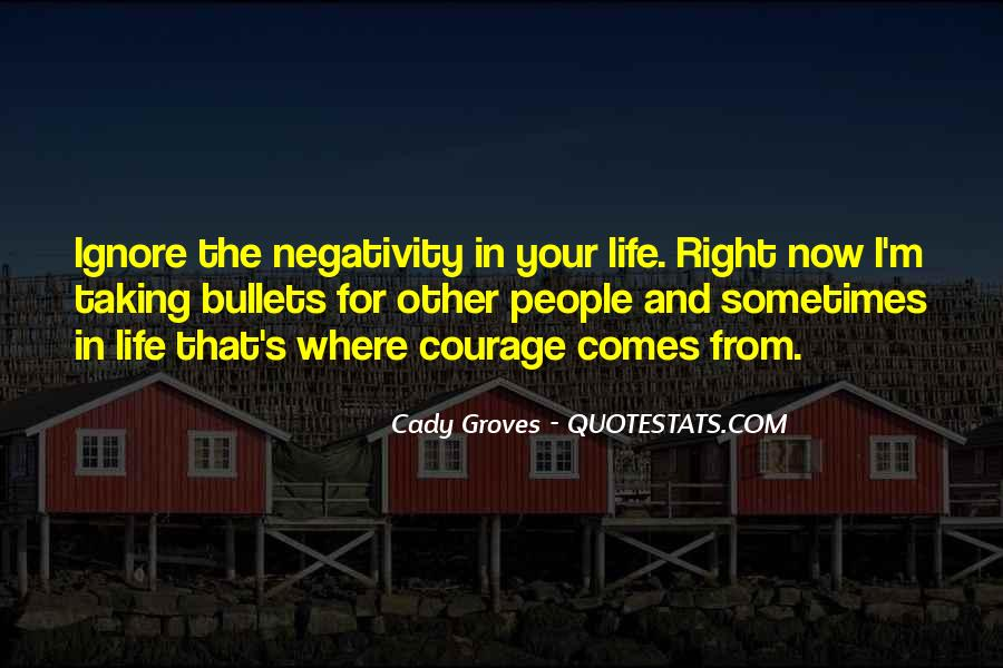 No Negativity In My Life Quotes #457666