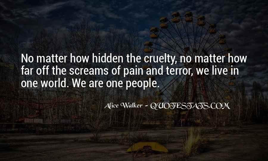 No One In The World Quotes #102853