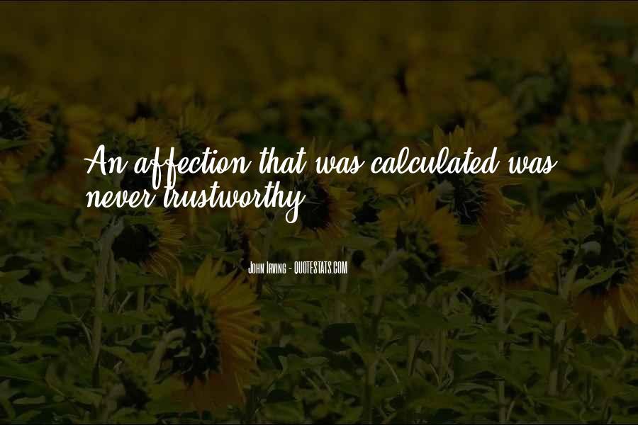 No One Trustworthy Quotes #22185