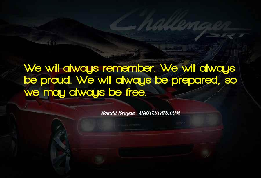 No One Will Remember You Quotes #7080