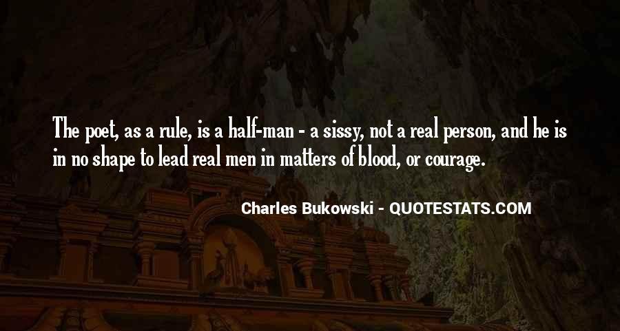 No Real Man Quotes #32424