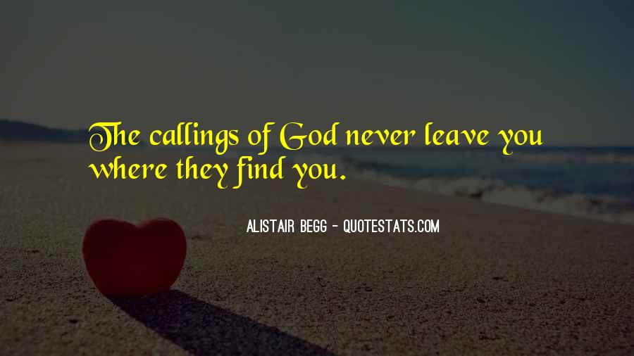 Quotes About Callings #1126858