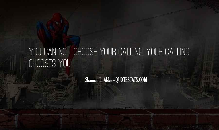 Quotes About Callings #1671833