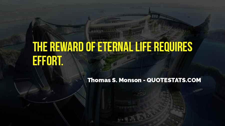 No Reward Without Effort Quotes #1091316