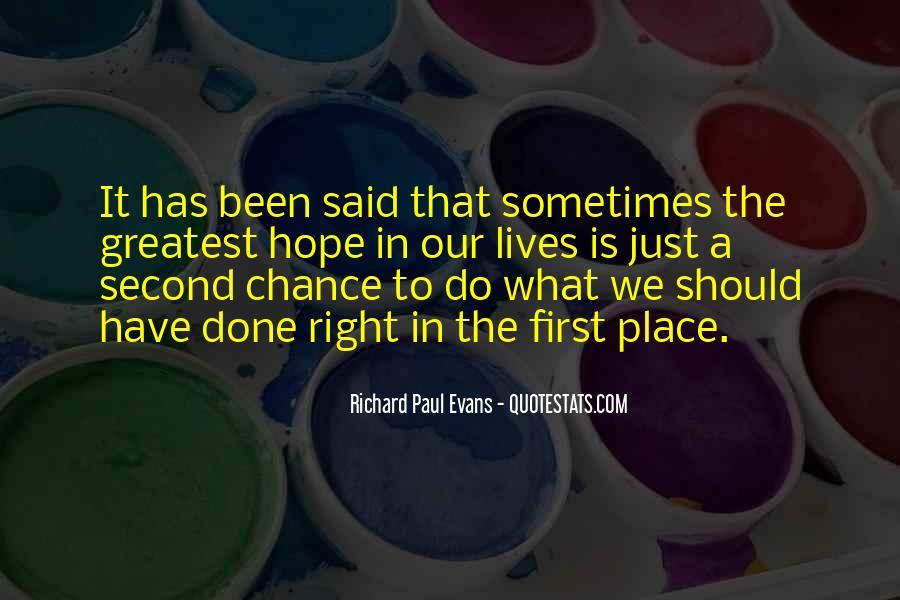 No Second Chances Love Quotes #1254700