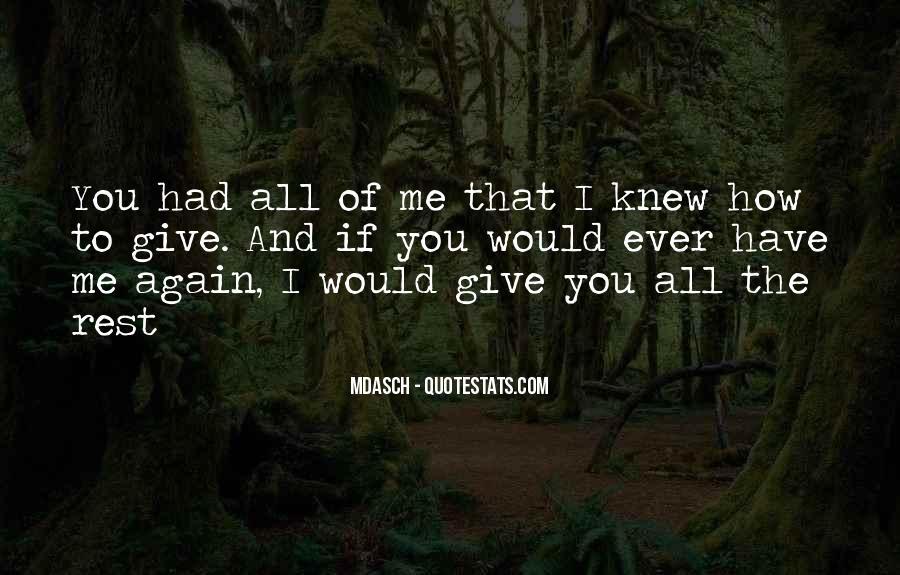 No Second Chances Love Quotes #437707