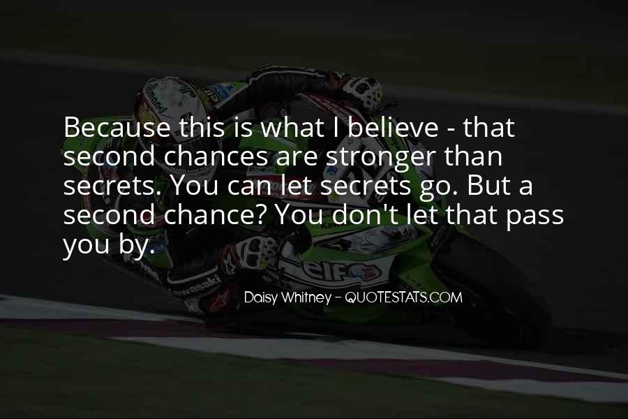 No Second Chances Love Quotes #638573