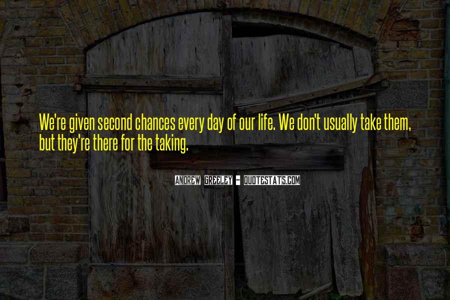 No Second Chances Love Quotes #825524