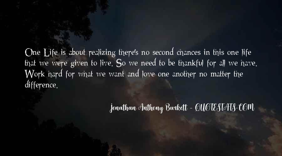 No Second Chances Love Quotes #962355