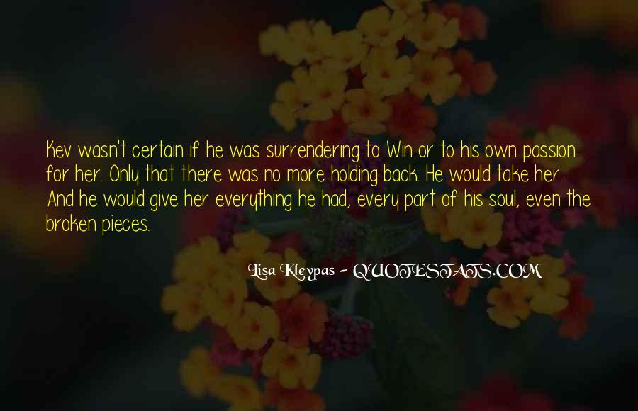 No Surrender Love Quotes #1621202