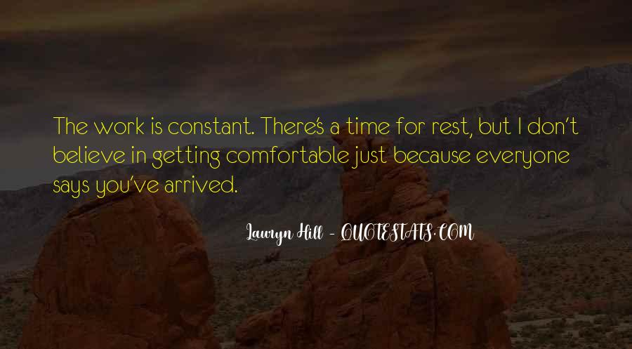 No Time To Rest Quotes #96067