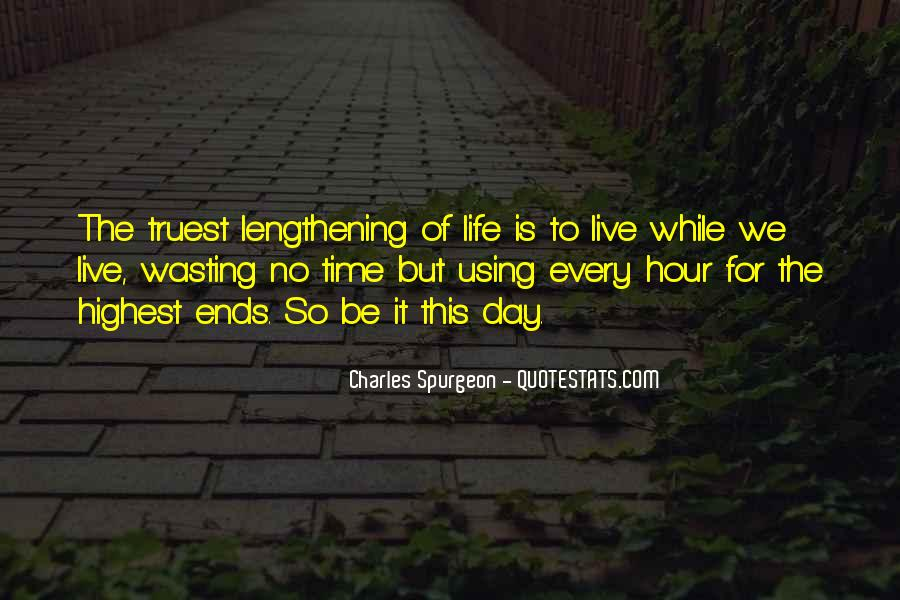 No Time Wasting Quotes #1286866