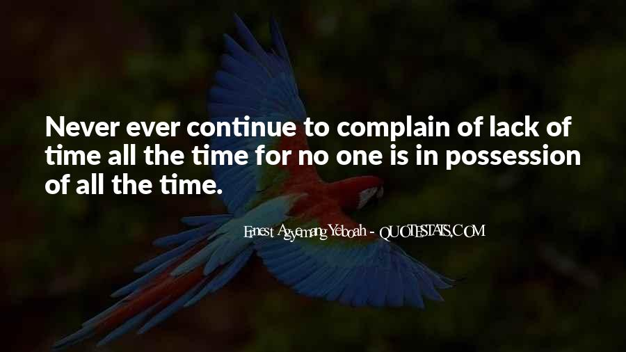 No Time Wasting Quotes #1876387
