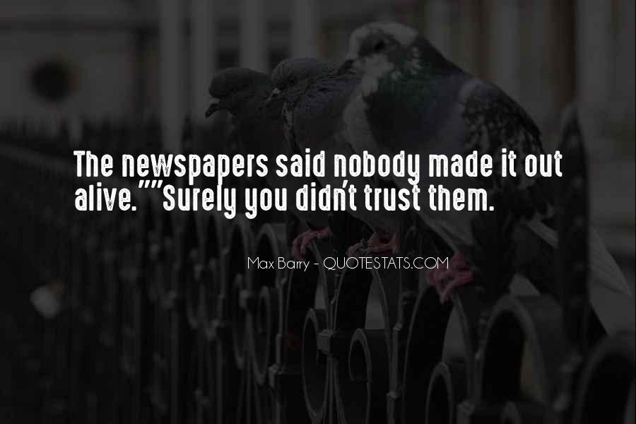 No Trust Nobody Quotes #732064