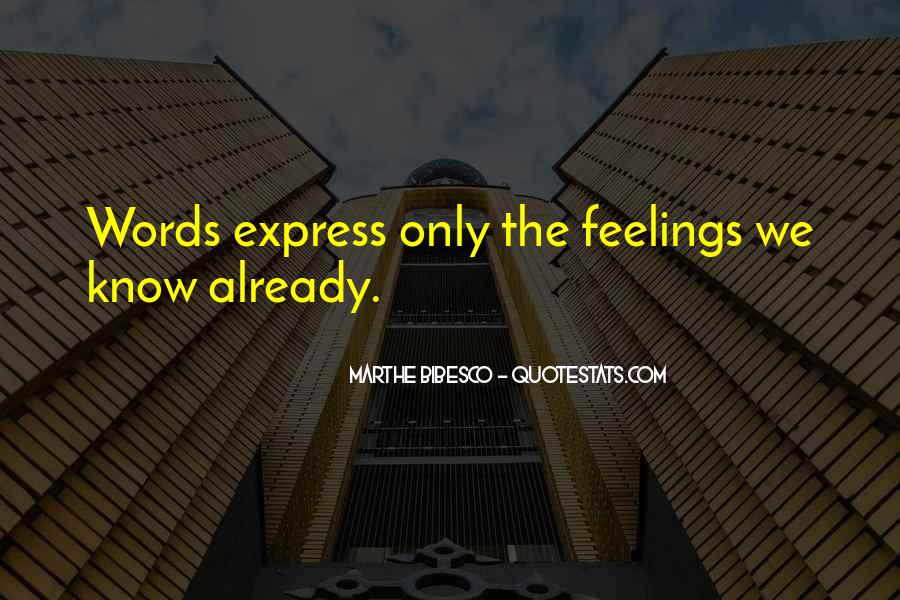 No Words To Express My Feelings Quotes #1145950