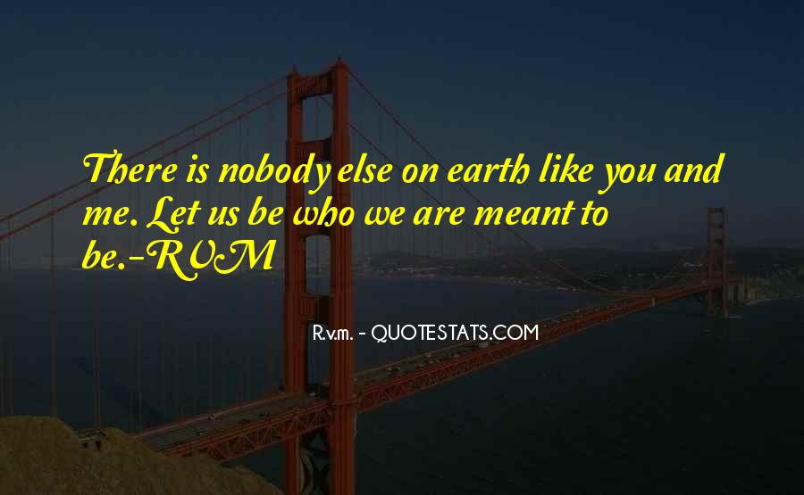 Nobody Else Like You Quotes #1358381