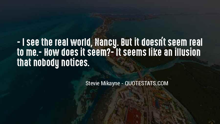 Nobody Is What They Seem Quotes #1412404