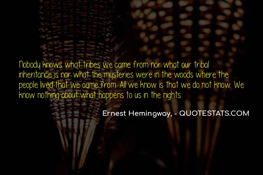 Nobody Knows What They Have Until It's Gone Quotes #29183