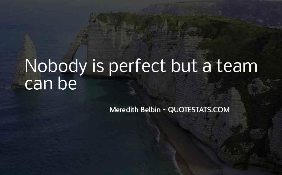 Nobody's Perfect But Quotes #41917