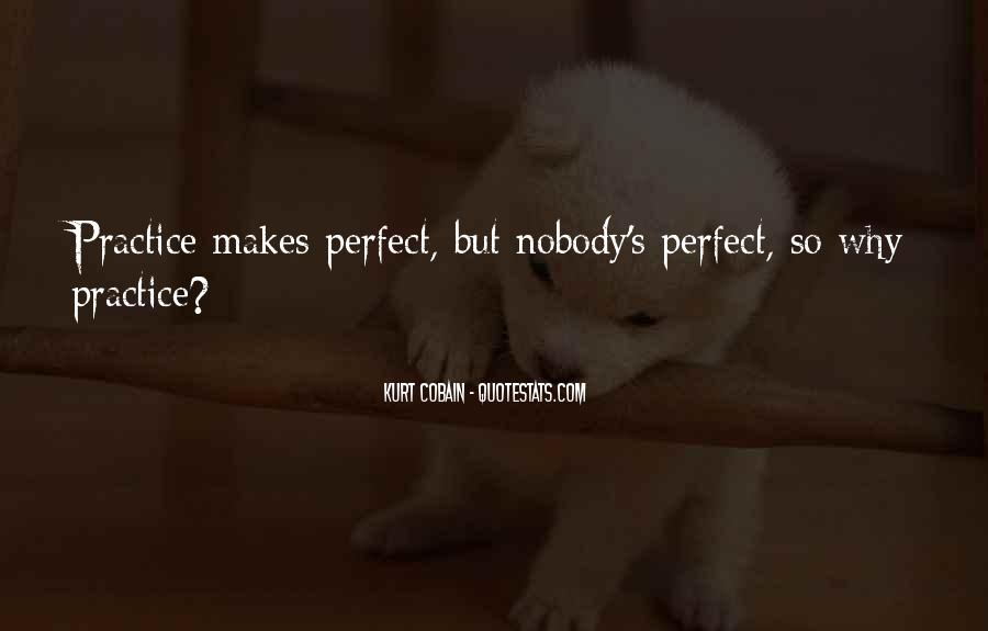 Nobody's Perfect But Quotes #796239