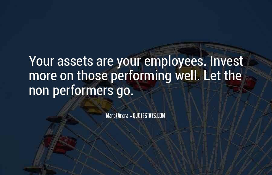 Non Performer Quotes #1497637
