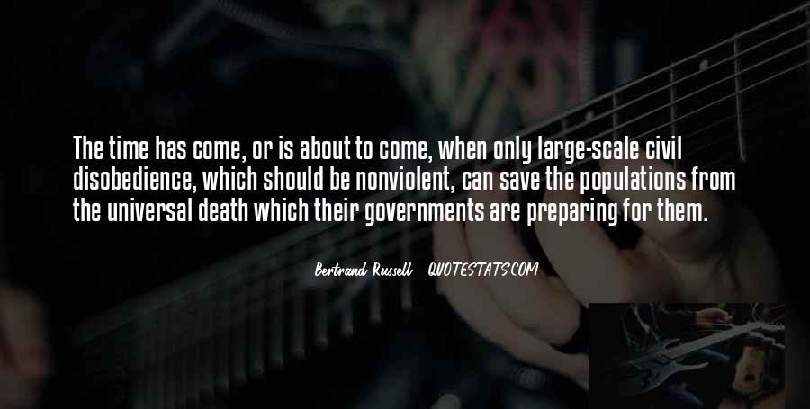 Nonviolent Civil Disobedience Quotes #131618