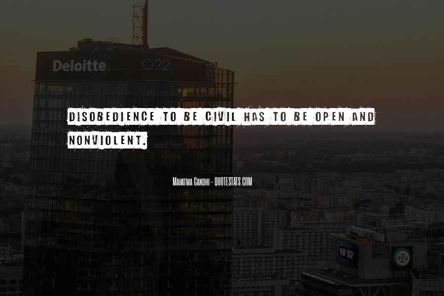 Nonviolent Civil Disobedience Quotes #649850