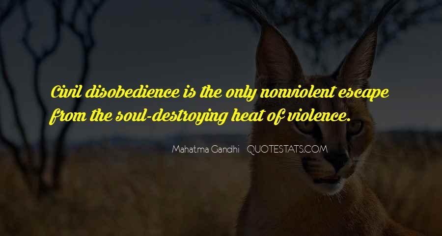 Nonviolent Civil Disobedience Quotes #982659