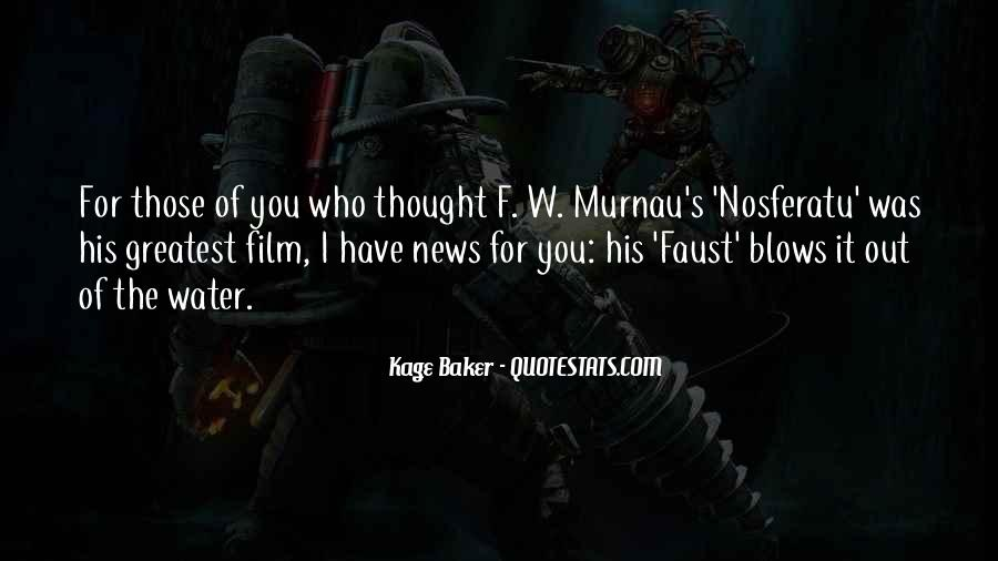 Nosferatu Murnau Quotes #1484604