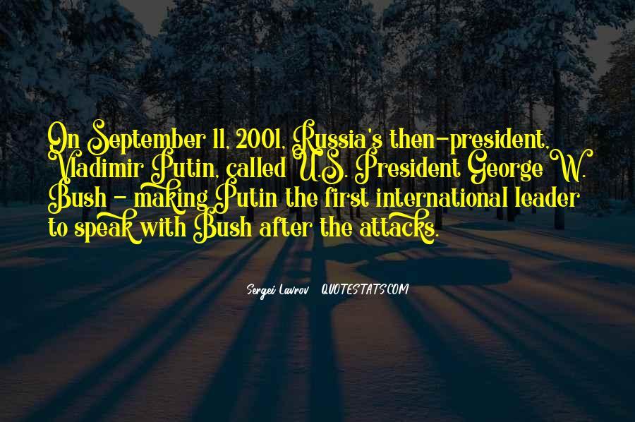 Quotes About Bush Putin #209055