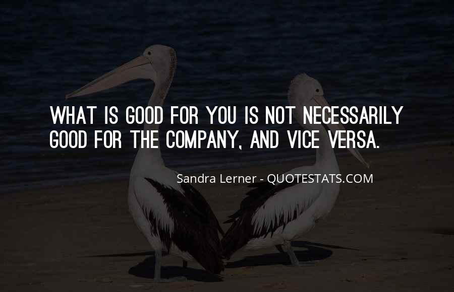 Not Good Company Quotes #1661605