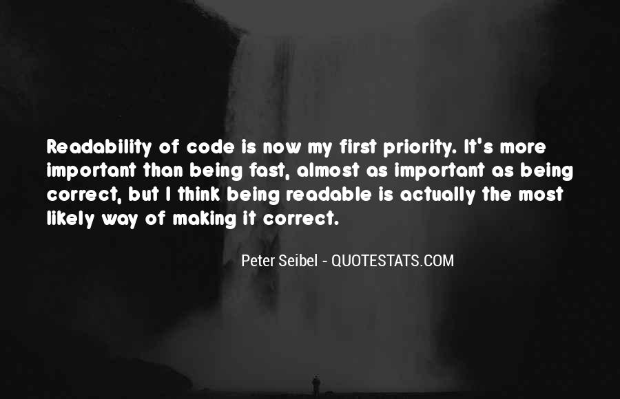 Not His Priority Quotes #35585
